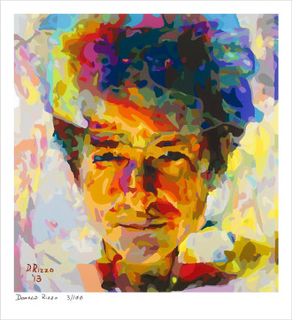 Shop for limited edition prints of Bruce Springsteen juxtaposed Bob Dylan art of Donald Rizzo
