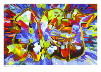 "Shop for ""Making Others See"" a painting by San Francisco gay artist Donald Rizzo. Abstract verism in kaleidoscopic visions of vibrant colors."