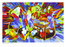 """Shop for """"Making Others See"""" a painting by San Francisco gay artist Donald Rizzo. Abstract verism in kaleidoscopic visions of vibrant colors."""