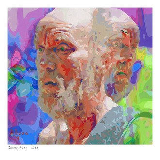 """Shop for """"stigma"""" a mental health portrait by San Francisco artist Donald Rizzo. Abstract verism in kaleidoscopic visions of vibrant colors."""