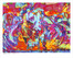 """Shop for """"taking flight"""" a limited edition print by San Francisco gay artist Donald Rizzo. Abstract verism in kaleidoscopic visions of vibrant colors."""