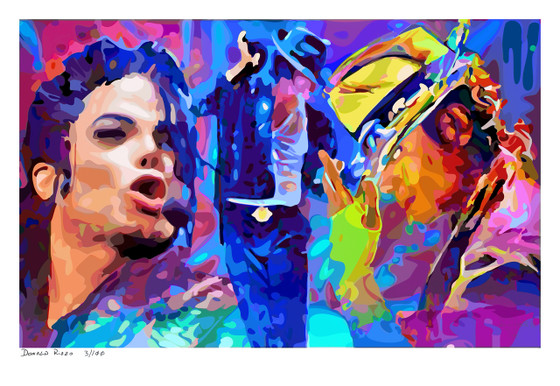 "Shop for ""Will you be There"" a Limited Edition Print by San Francisco gay artist Donald Rizzo. Abstract verism in kaleidoscopic visions of vibrant colors."