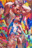 "Gay Male Art paintings ""Gut feeling"" by San Francisco artist Donald Rizzo. Donald Rizzo paints optical illusions in a style call Ambiguous Delusions."