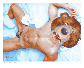 Shop for Gay Male Art Bare Front Print a limited edition print by San Francisco artist Donald Rizzo. Donald Rizzo paints optical illusions in a style call Ambiguous Delusions.