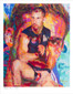 Shop for Gay Male Art Armory a limited edition print by San Francisco artist Donald Rizzo. Donald Rizzo paints optical illusions in a style call Ambiguous Delusions.