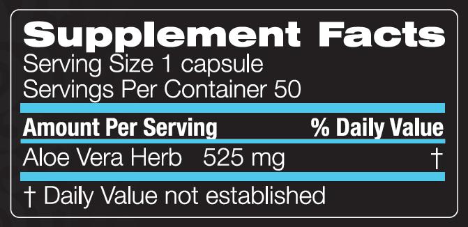 Unicity Aloe Vera 50 Capsules Ingredients