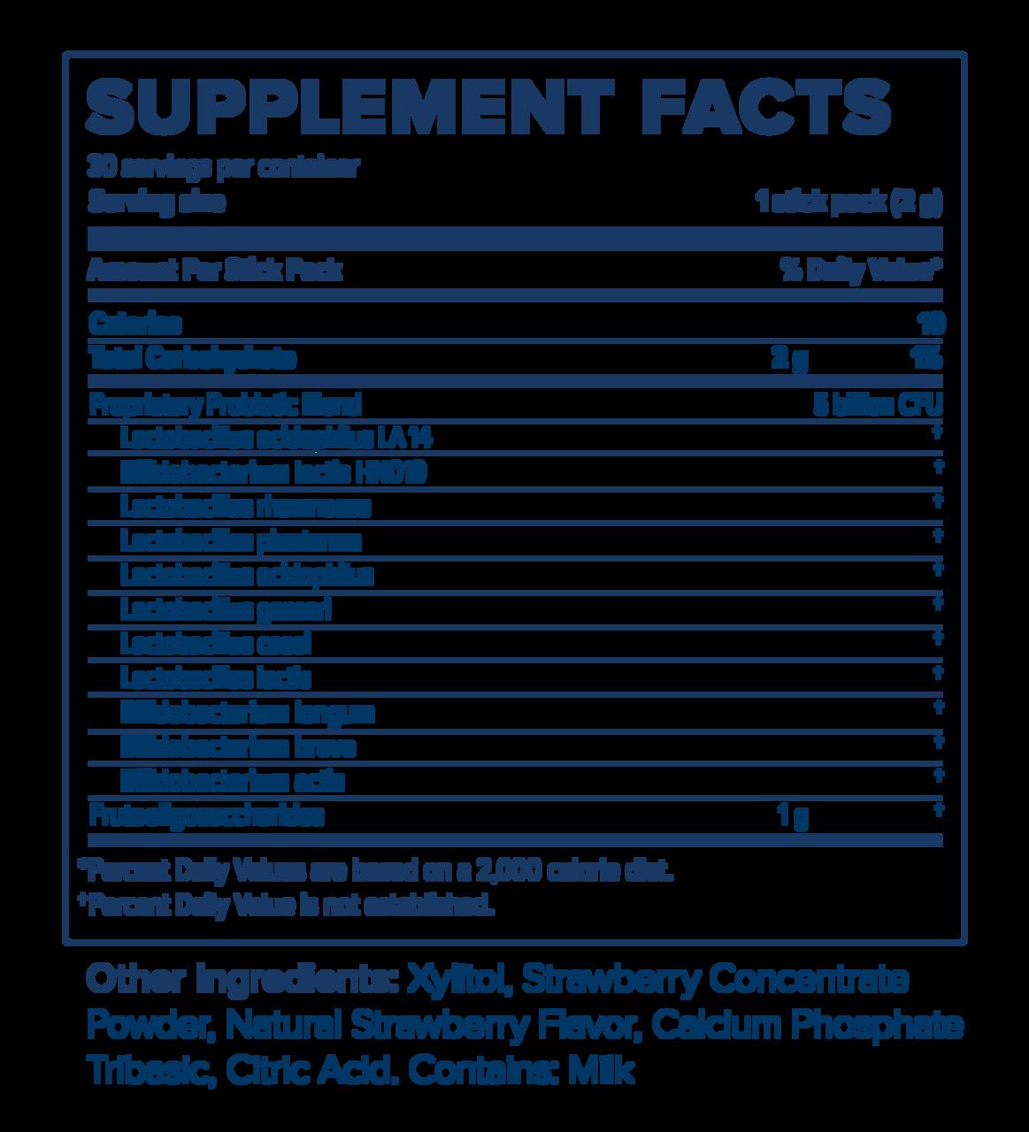 Unicity Bios Life Probionic Plus fact Sheet