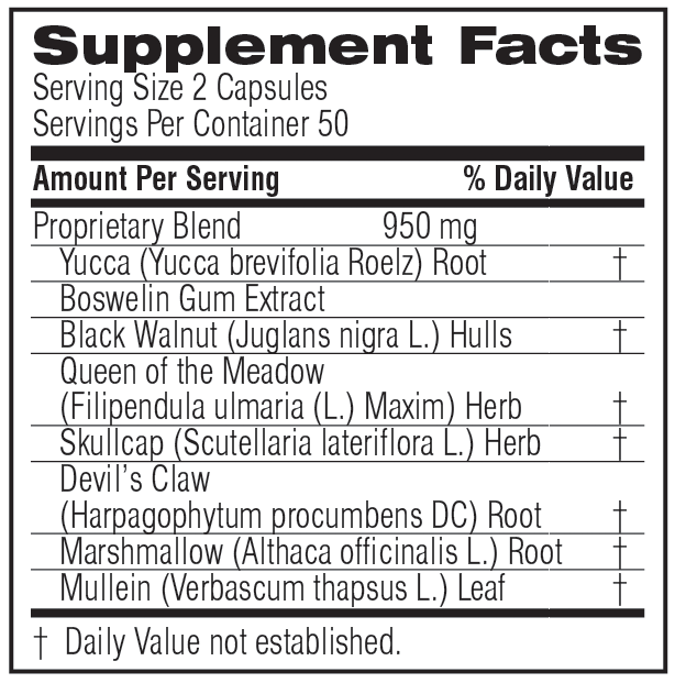 Unicity BM&C Plus 100 Capsules, #15712, Ingredients
