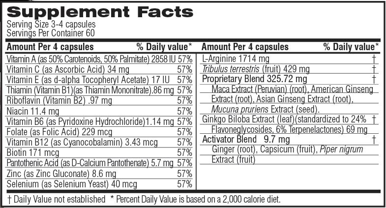 Unicity Renew for Men 210 Capsules, Ingredients