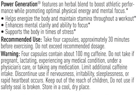 Unicity Power Generation 80 Capsules, Recommended Use
