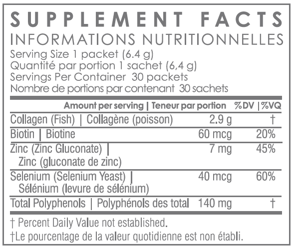 Unicity Neigene Skin Care System Dry  Supplement Facts