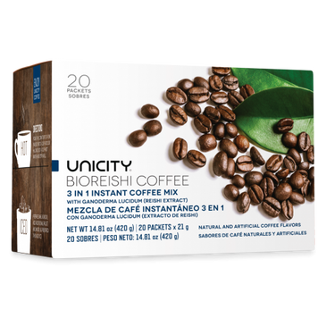 Unicity Core Bio Reishi Coffee 20 Packets