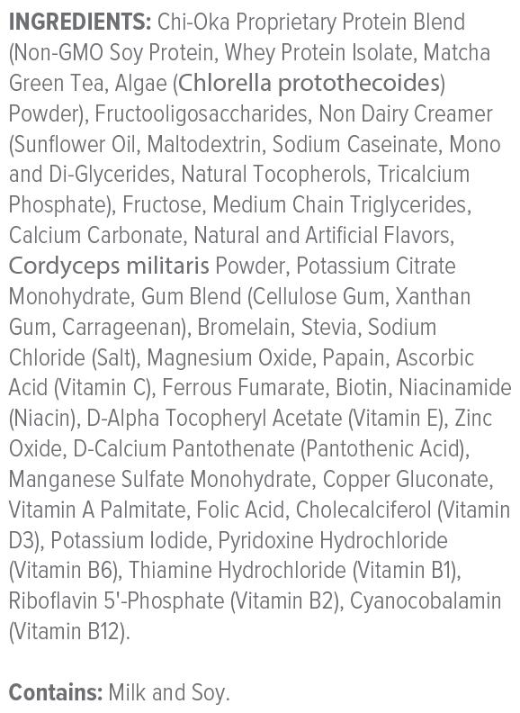 Unicity LC Ascent 900 Grams Ingredients