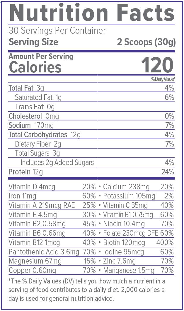 Unicity LC Ascent 900 Grams Nutrition Facts
