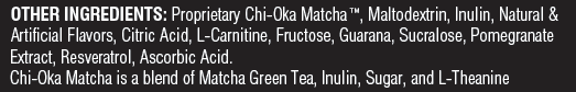 Unicity Matcha Other Ingredients