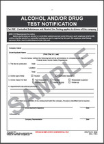 Alcohol & Drug Testing Notification