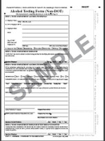 Alcohol Testing Form - non DOT