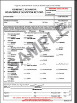Observed Behavior Reasonable Suspicion Record