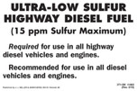 Ultra Low Sulfur Diesel Fuel Label