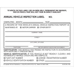 Annual Inspection Decal - Numbered