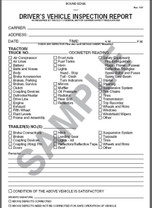 Daily Vehicle Inspection Book -2 ply Detailed Carbon