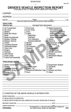 Driver Vehicle Inspection Book -3 ply Detailed Carbonless