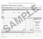 Straight Bill of Lading - Short Form - Snap-Out, 3-Ply with Carbon
