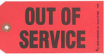 Out of Service Tag - Red with Wire