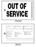 Out of Service Tags - White Tyvek with Wire