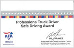 Safe Driver Award -CARD