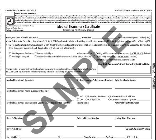 graphic regarding Mcsa-5875 Printable Form called 2015MC Professional medical Examiners Certification