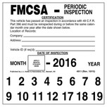 FMCSA Periodic Inspection Decal
