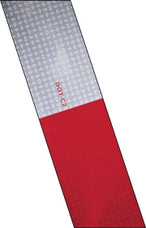 "3M Conspicuity Tape - 24"" Strip of 6"" Red/6"" White"