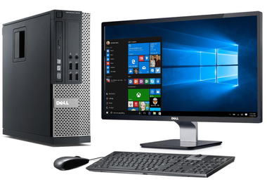 Dell Optiplex desktop bundle with 8GB RAM and 250 GB Hard Drive.  Genuine  Windows 10 Pro preinstalled with keyboard and mouse included.