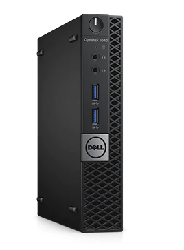 Big performance, small box. The Dell Optiplex 3040 Micro comes equipped with a zippy 8 GB of RAM, a 128 GB SSD for your storage needs, and a Genuine Windows 10 Pro install.