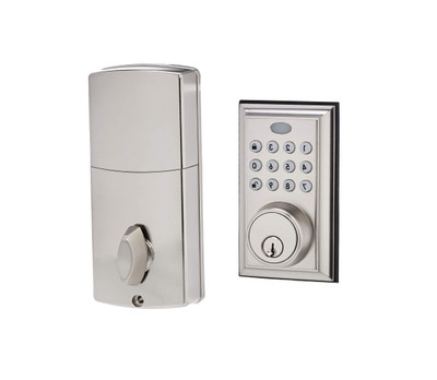 AmazonBasics - Traditional Satin Nickel Deadbolt Door Lock