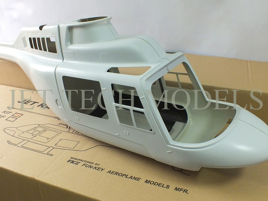 FUNKEY Scale Fuselage JET RANGER  60 (700) size Kit (Unpainted)