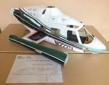 FUNKEY Scale Fuselage BELL 222  .60 (700) size Green Color (NEW VERSION) with Retractable Landing Gear