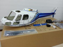 FUNKEY Scale Fuselage AS350 Ecureuil  .50 (600) size Blue and White Color with Landing Skid