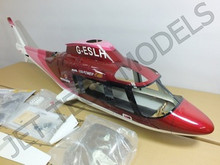 FUNKEY Scale Fuselage Agusta 109A  .30 (550) size RED Color  (Retract Version)