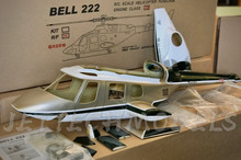 FUNKEY Scale Fuselage Bell 222 .30 (550) size Green Color with Retractable Landing Gear