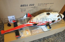 FUNKEY Scale Fuselage Bell 222 .50 (600) size  RED Color with Retractable Landing Gear + INSTRUMENT PANEL