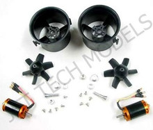 70mm Freewing Counter Rotating EDF SET For 6S with 2300kv Motor x 2
