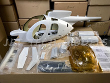 FUNKEY Scale fuselage H-500MD TOW DEFENDER .50 (600) size KIT (Unpainted Version) with Landing Skid