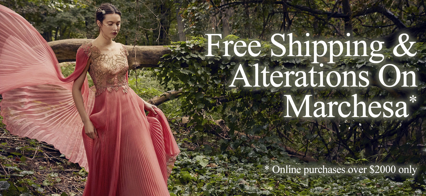 Free Shipping on Marchesa at Vivaldi Boutique NYC