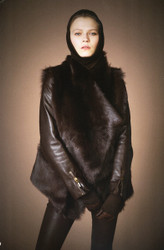 Plein Sud Leather Jacket with Tuscan Lamb Fur