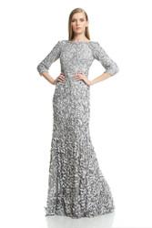 Theia Resort 2016 3/4 Sleeve Petal Gown