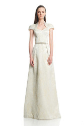 Theia Resort 2016 Beaded Belt A-Line Gown