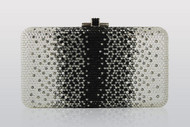Judith Leiber Ombre Large Airstream In Silver Jet Multi