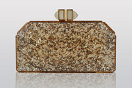 Judith Leiber Paillettes Faceted Clutch Gold